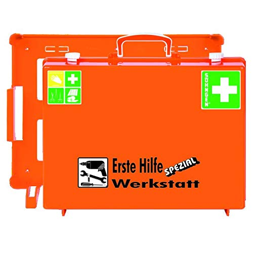 Söhngen MT-CD Erste Hilfe Werkstatt Koffer (mit Füllung, mit Wandhalterung, Koffer aus ABS Kunststoff) 0360111 -