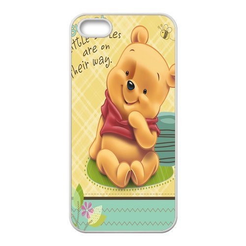 iPhone 5/iPhone 5S Case Coque, Screen Protector pour iPhone 55S, Winnie the Pooh Designs iPhone 5S Case, iPhone 5/iPhone 5S Coque de protection Case