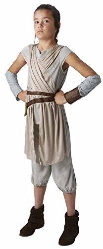 Awakens Kostüm Force Rey - STAR WARS - THE FORCE AWAKENS ~ Rey (Deluxe) - Kids Costume 9 - 10 years by Rubie's