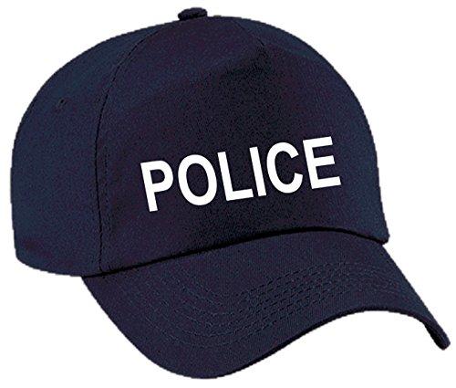 Cap Baseball Police Polizei Cop Kappe Mütze Karneval Fasching (Dunkelblau/Weiß)