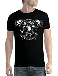 avocadoWEAR Indio Americano Espíritu Halcón Hombre Camiseta ...