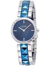 Calvin Klein Reloj Analógico para Mujer de Cuarzo con Correa en Acero Inoxidable K5T33T4N