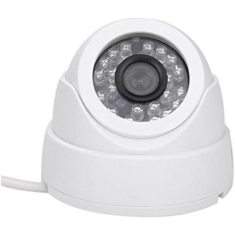 SODIAL(R)1/3 CCD 1000TVL 24 LED IR Corte Seguridad Interior Cupula CCTV Camara 3.6mm PAL