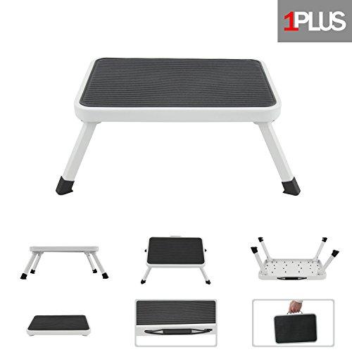 1PLUS klappbarer Tritt Klapptritt für Küche, Bad und Camping B x T x H: 38 x 26 x 17,7 cm