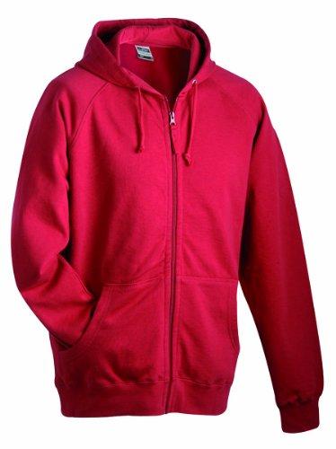 James & Nicholson Herren Sweatshirt Rot (Burgundy)