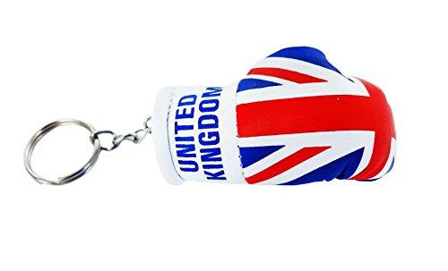 Porta chiavi Portachiavi Portachiavi, motivo: bandiera Regno Unito uk bandiera inglese union jack, guanto da boxe