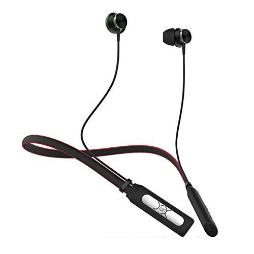 YXwin Auriculares Bluetooth Audifonos Inalambricos Magnéticos Almohadillas Manos Libres Cancelación del Ruido Headphones para Deporte (Negro)