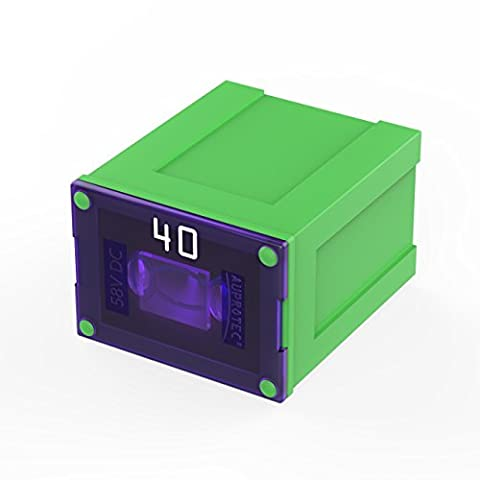 Auprotec® JCASE LP fusible bloque Low Profile femelle OTO JLP fusibles japonais choix: 40A Ampere vert, 1 pièce