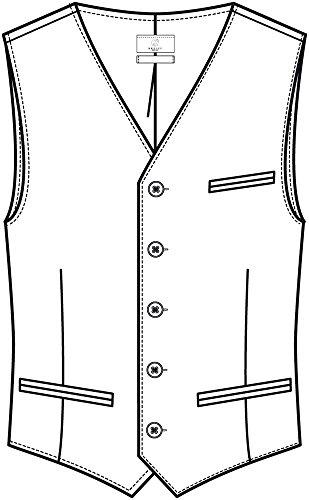 GREIFF Herren-gilet tuta-gilet PREMIUM comfort fit - stile 1221 Nero