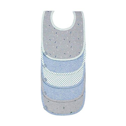 Juego de baberos LTEXB azul gris azul turquesa