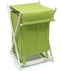 panier linge sale pliant pliable en bois et tissu. Black Bedroom Furniture Sets. Home Design Ideas