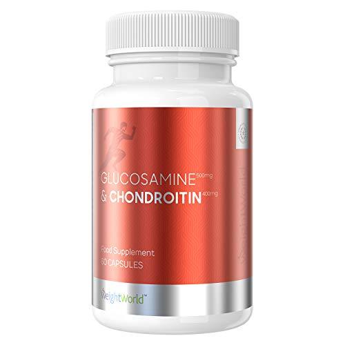 Glucosamina e Condroitina 900mg Capsule - Integratore per la Salute di Articolazioni e Cartilagine - Triplo Supporto a Dolori Articolari, Tendini e Legamenti- Senza Glutine - 60 Capsule - WeightWorld