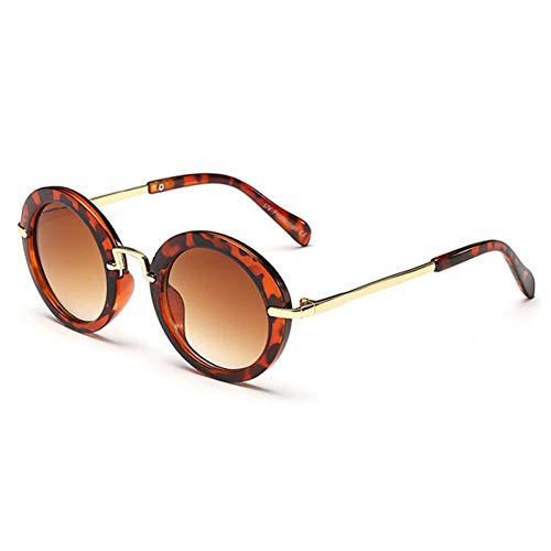 KCJKXC Runde Nette Kindersonnenbrille-Marken-Mädchen-Sonnenbrille- Weinlese-Kindergläser