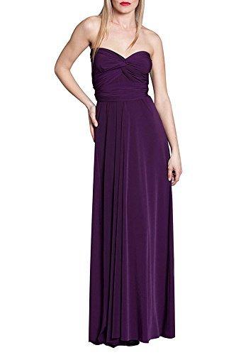 Von Vonni Transformer-Kleid, lang - One Size Fits USA 2-10 - aubergine