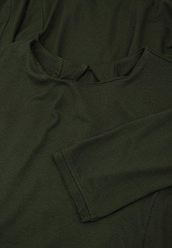 Blaumax -  Vestito  - linea ad a - Maniche lunghe  - Donna Verde foresta
