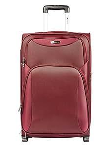 Safari Polyester 74.5 cms Maroon Softsided Suitcase (Tergo-Plus-75-Maroon-2wh)