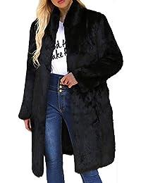 POLP Abrigos mujer Largo Invierno Mujer Invierno Largos Abrigo Casual Abrigo de Cordero de Lana Artificial