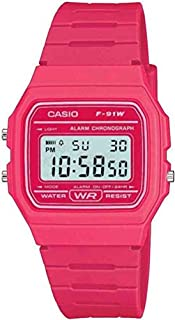 Casio Men's Pink Digital Watch with Resin Strap F-91WC-4AEF (B0042SNS7S) | Amazon price tracker / tracking, Amazon price history charts, Amazon price watches, Amazon price drop alerts