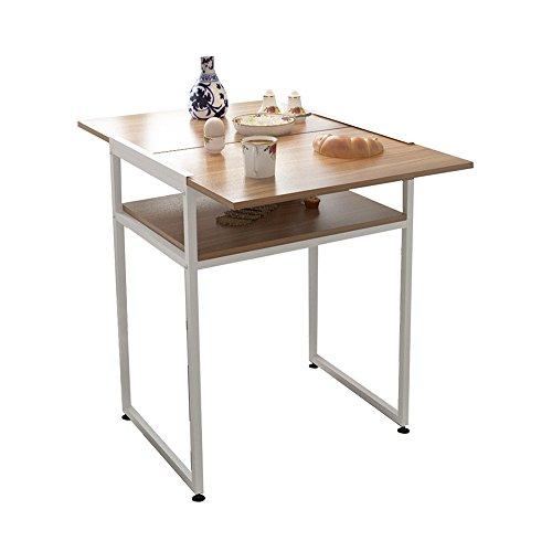 Tavolo pieghevole YANFEI Tavolo da Pranzo Moderno Semplice da casa con scrivania Tavolo da Pranzo Pieghevole da Due posti con Doppio