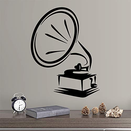 HNXDP Lustige Trompete Wandaufkleber Abnehmbare Für Schlafzimmer Dekoration Wanddekoration Wandmalereien Wohnzimmer Dekoration Gold L 43 cm X 56 cm