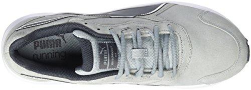 Scarpe Da Corsa Da Uomo Puma Descendant V3 Suede Grigio (cava-periscopio-bianco 02)
