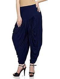Sakhi Sang Women's Viscose Dhoti Salwar [SS0825_Free Size_Dark Blue]