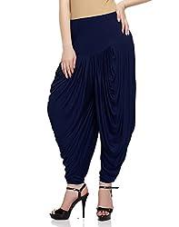 Sakhi Sang Womens Viscose Dhoti Salwar [SS0825_Free Size_Dark Blue]