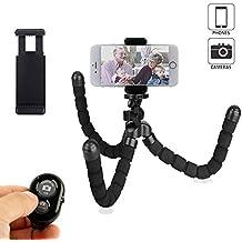 Mini trípode de teléfono flexible y portátil con control remoto inalámbrico Bluetooth, para iPhone y Smartphone o trípode de cámara