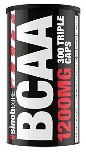 #sinob BCAA Caps 1200mg + B6 Aminosäure Vitamine Mineralien Regeneration Bodybuilding 300 Kapseln