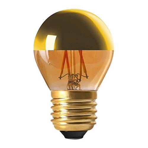 Glühbirne, LED E274W Kugel Strunk goldfarben dimmbar Girard sudron - Globus Mittlere Schraube