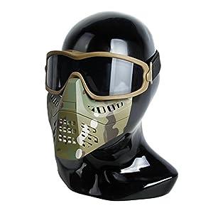 TMC ANSI Z87.1Impact nominale pour masque de ski avec masque amovible pour airsoft Paintball Milsim–Multicam
