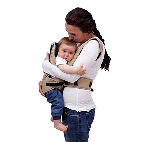 Babytrage Kinetic 3 in 1 Bauch- und Rückentrage von Geburt an bis 1 Jahr (Beige)