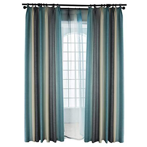 Vorhänge im nordischen Stil im Stil Vorhänge mit Farbverlauf Gestreifte Vorhänge Schlafzimmer Wohnzimmer mit Schatten Tuch (Size : Width 350*Height 270cm, Style : Curtains) -
