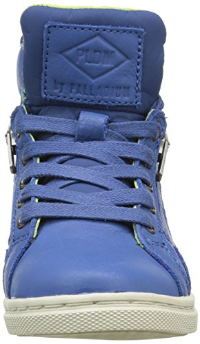 PLDM by Palladium Veleda Nca, Baskets Hautes Mixte Enfant Bleu (F74 Cobalt/Wild Lime)