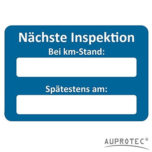AUPROTEC Kundendienst Aufkleber Werkstatt Serviceaufkleber Auswahl: 250 Stück, Nächste Inspektion