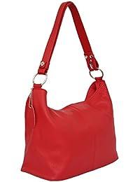 d35cbe947f52d AMBRA Moda Damen Leder Handtasche Schultertasche Umhängetasche Hobo bag  GL005
