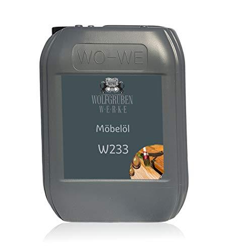 Möbelöl farblos für Innen und Aussen Holzöl Arbeitsplattenöl W233 5L