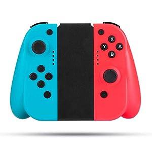 Wireless Controller für Nintendo Switch, BestOff Neon Red Neon Blue Controller Kompatibel für Nintendo Switch Console…