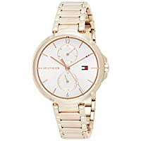 Tommy Hilfiger Womens Quartz Watch, Chronograph Display and Stainless Steel Strap 1782124
