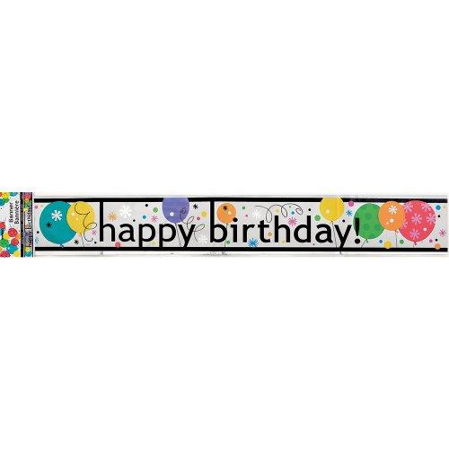 Buon Compleanno pellicola Banner Compleanno Banner 3,65 m - Compleanno Banner Misure