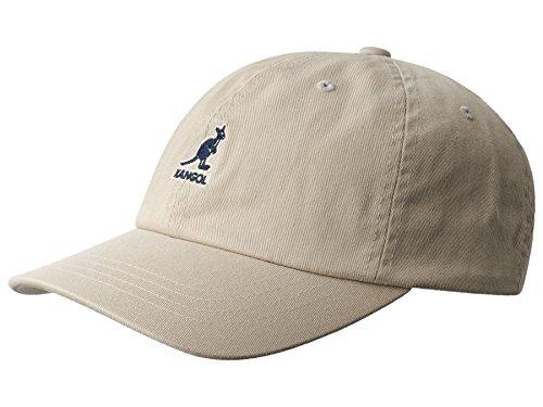 Preisvergleich Produktbild Kangol Washed Baseball Cap Basecap aus Baumwolle - khaki