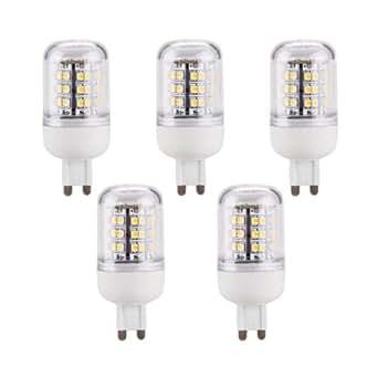 5 lampadine lampadine g9 48 led smd bianco caldo 240lm for Lampadine g9 led