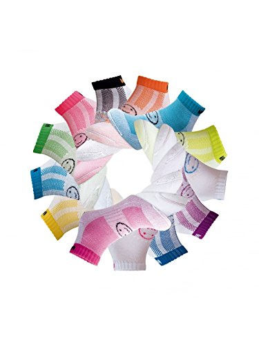 WackySox 13 Pairs Supersaver Wacky Wheel Trainer Sports Socks Multi Coloured