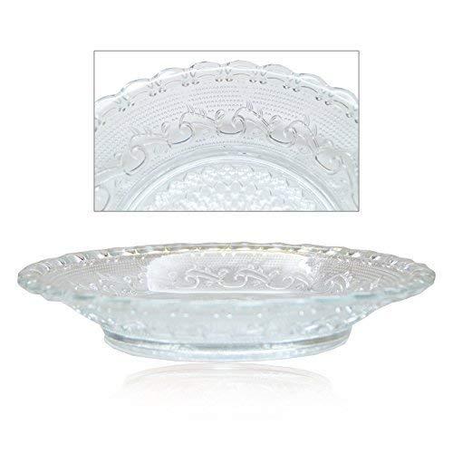 DRULINE Glasteller Teller Servierteller Kuchenteller Dessertteller Glas Platte 6er-Set -