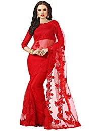 Darshita International Women's Net Saree (Rednet_Red)