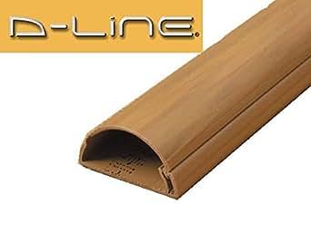 d line kabelkanal r1d5025o 1 meter 50 x 25 kabelkanal zum verbergen von fernsehkabeln holz. Black Bedroom Furniture Sets. Home Design Ideas