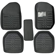 GTC Universal Carpet Car Floor/Foot Mats (ITN-934-1) (Set of 5) (Black)