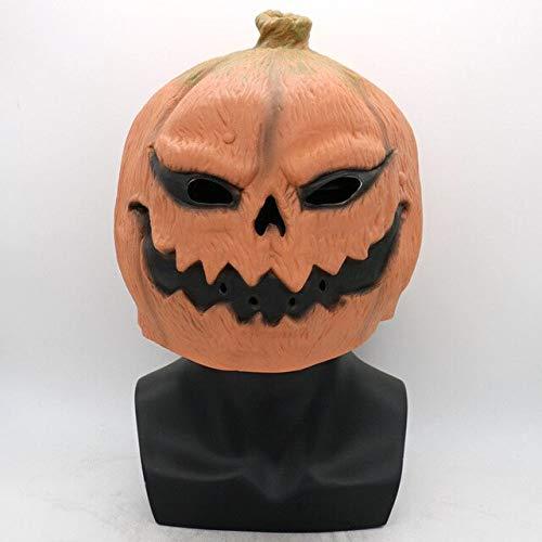 lloween Scary Kostüm Party Requisiten Latex Kürbis Kopf Maske, a ()
