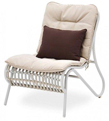 Belardo Aporia Sessel inkl. Auflagen und Zierkissen aus Polyester,Gartenstuhl Gartensessel...