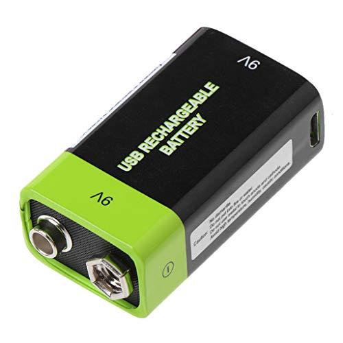 WEISHAZI - Batería recargable USB 6F22 Lipo 9 V 400